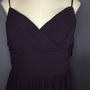 Bill Levkoff Purple Formal Gown